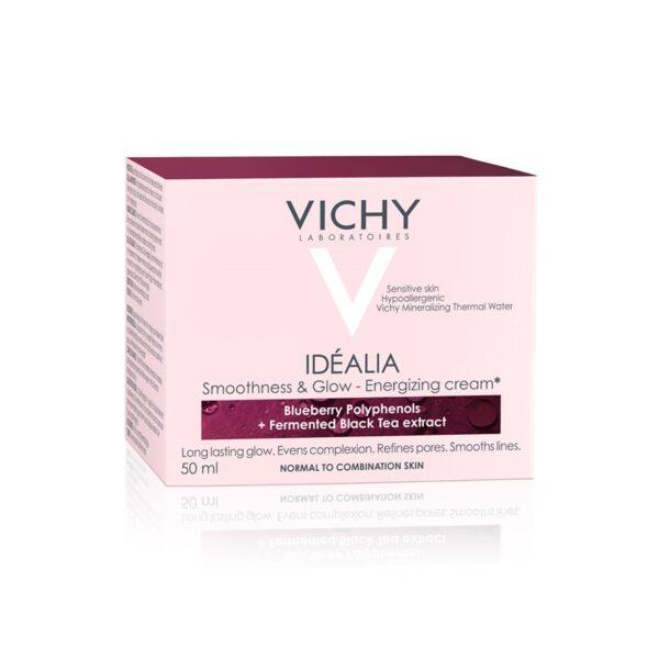 Crema energizanta cu efect de netezire si iluminare, ten normal mixt Idealia, Vichy, 50 ml