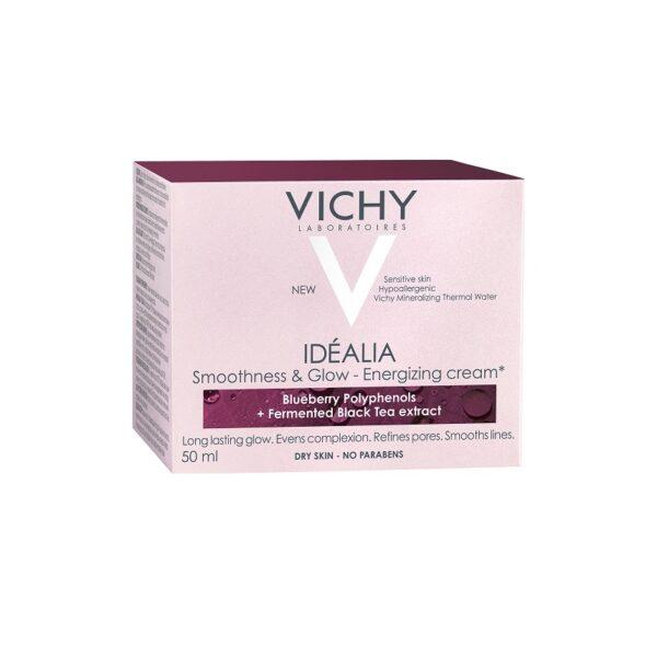 Crema energizanta cu efect de netezire si iluminare pentru tenul uscat Idealia, Vichy, 50 ml