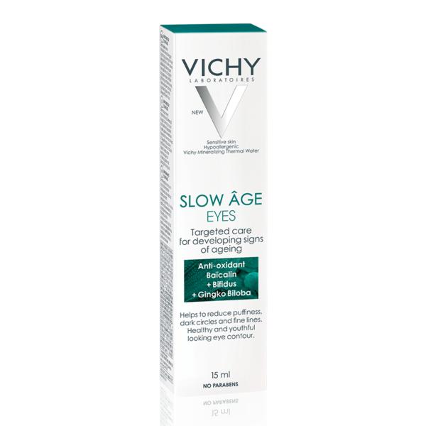Crema contur ochi pentru corectarea semnelor de imbatranire in curs de formare Slow Age, Vichy, 15 ml