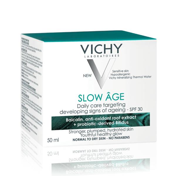 Crema de fata pentru corectarea si incetinirea aparitiei semnelor de imbatranire a tenului SPF 30 Slow Age, Vichy, 50ml