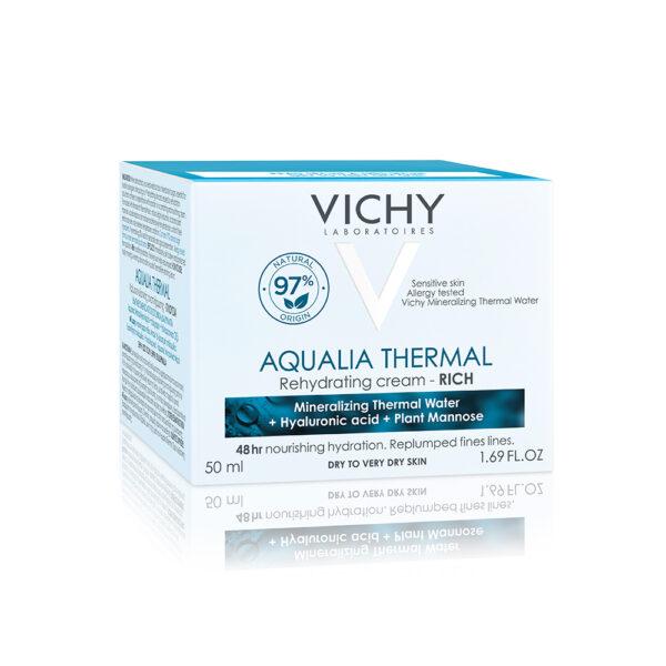 Crema hidratanta pentru ten uscat si foarte uscat Aqualia Thermal Rich, Vichy, 50 ml