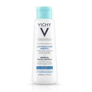 Lapte micelar pentru piele uscata Puerte Thermale, Vichy, 200 ml