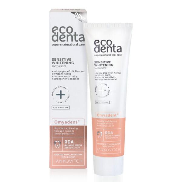 Pasta de dinti cu efect de albire pentru dinti sensibili, Ecodenta, 100ml