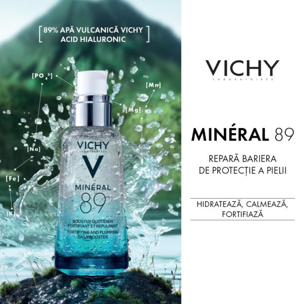 Gel-Booster zilnic cu efect de fortifiere si reumplere Mineral 89, Vichy, 50 ml