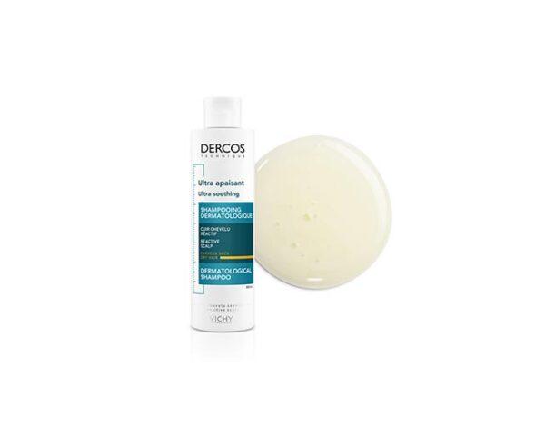 Sampon ultra calmant pentru par gras si normal Dercos Ultra Soothing, Vichy, 200 ml