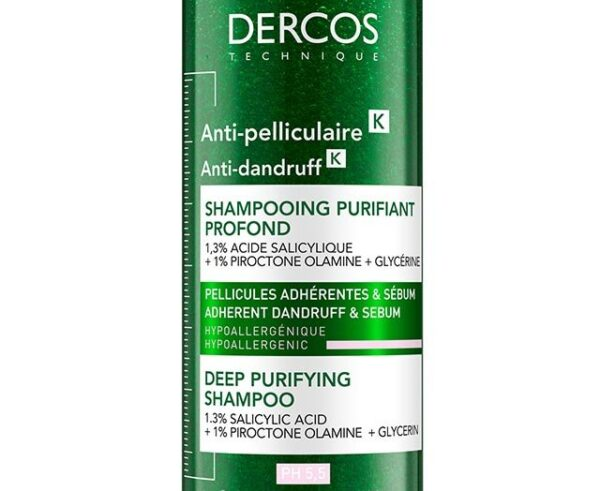 Sampon antimatreata purificator Dercos K, Vichy, 200 ml