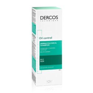 Sampon sebocorector pentru par gras Dercos, Vichy, 200 ml