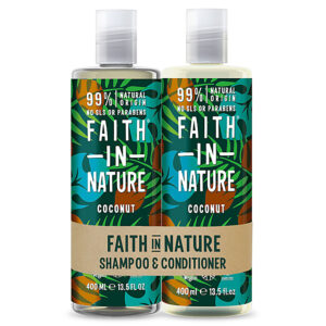 Set Sampon & Balsam cu Cocos, par normal sau uscat, Faith in Natur...