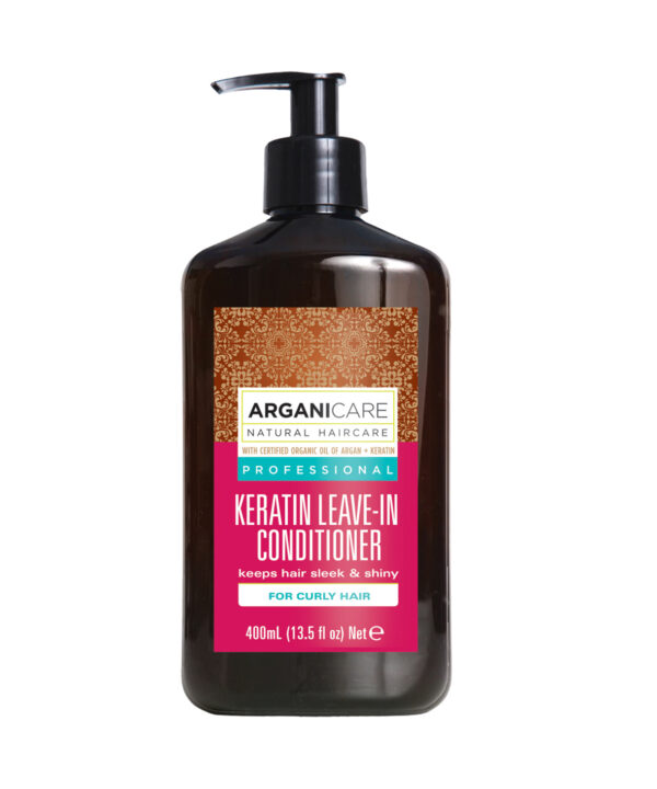 Balsam fara clatire cu Keratina pentru par cret, Arganicare, 400 ml