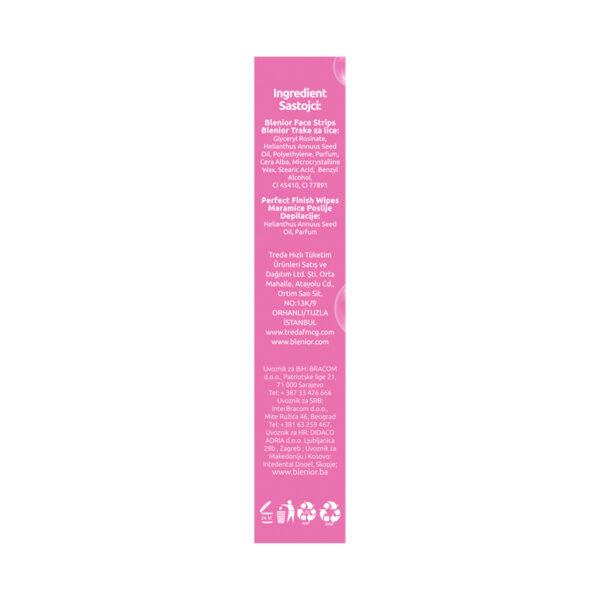 Benzi depilatoare cu ceara rece pentru fata - piele sensibila, Blenior, 20 buc