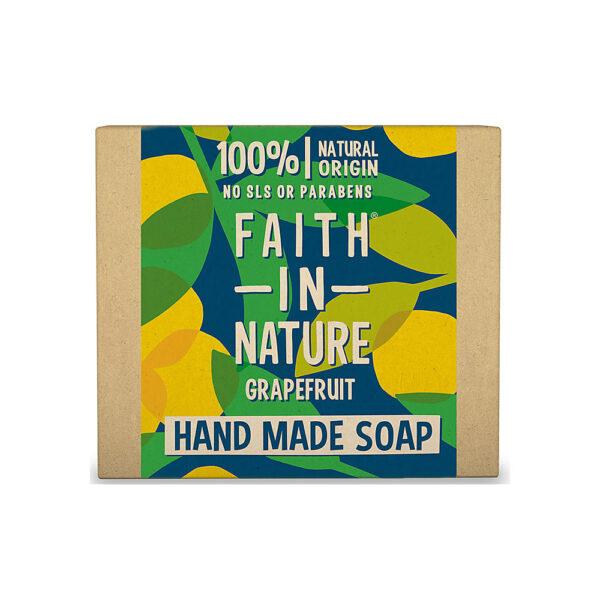 Sapun natural solid cu grapefruit, Faith in Nature, 100 gr