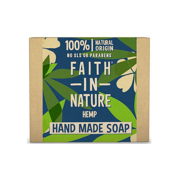 Sapun natural solid cu canepa, Faith in Nature, 100 gr