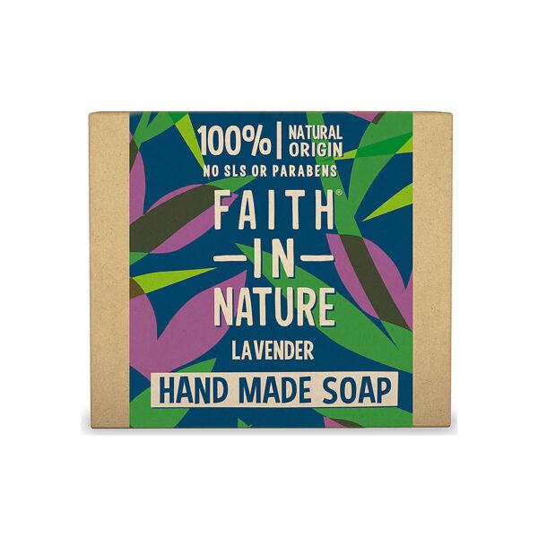 Sapun natural solid cu lavanda, Faith in Nature, 100 gr