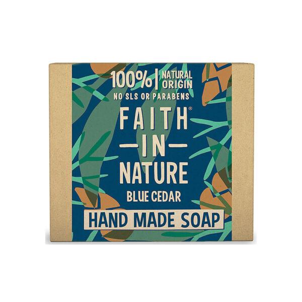 Sapun natural solid cu Cedru Albastru, Faith in Nature, 100 gr