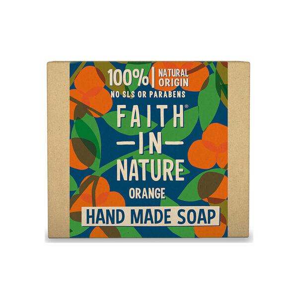 Sapun natural solid cu portocala, Faith in Nature, 100 gr