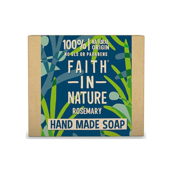 Sapun natural solid cu rozmarin, Faith in Nature, 100 gr