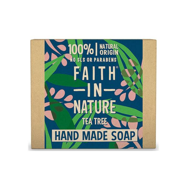 Sapun natural solid cu arbore de ceai, Faith in Nature, 100 gr