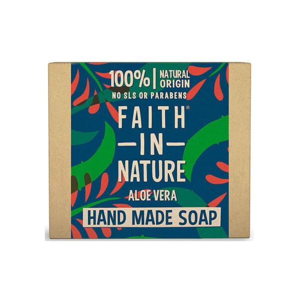 Sapun natural solid cu Aloe Vera, Faith in Nature, 100 gr
