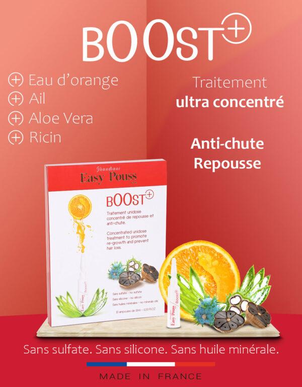 Tratament pentru par cu fiole Boost +, Easy Pouss, 10 x 10mL