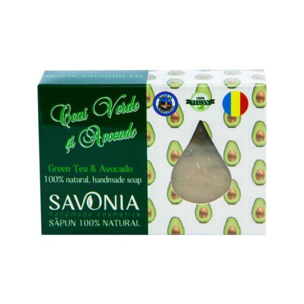 Sapun natural cu Ceai Verde si Avocado, Savonia, 90g