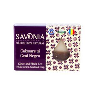 Sapun natural cu Cuisoare si Ceai Negru, Savonia, 90g