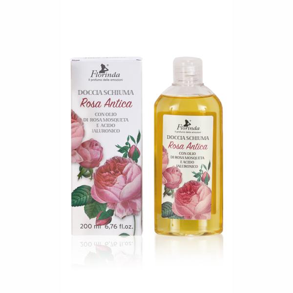Gel de dus BIO cu Rosa antica, La Dispensa, 200 ml