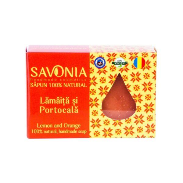 Sapun natural cu Lamaita si Portocala, Savonia, 90g