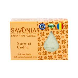 Sapun natural cu Sare si Cedru, Savonia, 90g