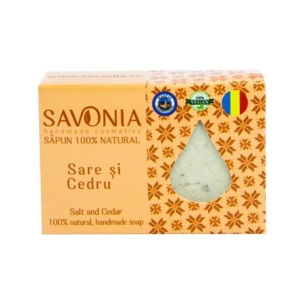 Sapun natural Sare si Cedru, Savonia, 9 g
