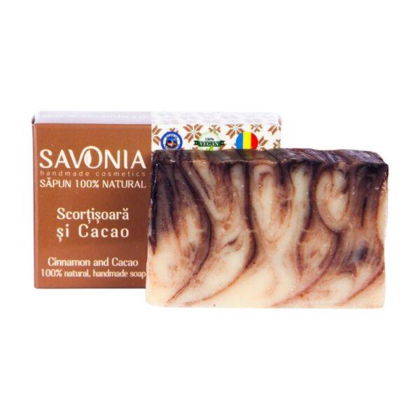 Sapun natural cu Scortisoara si Cacao, Savonia, 90g