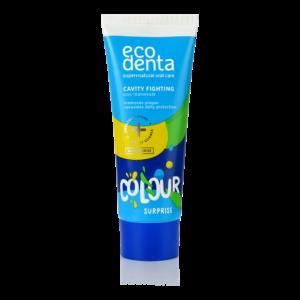 Pasta de dinti impotriva cariilor pentru copii 6+, Color surprize, Ecodenta, 75 ml