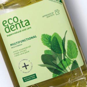 Apa de gura multifunctionala cu salvie si aloe vera, Ecodenta, 250 ml
