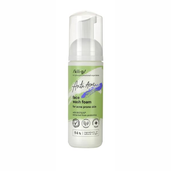 Spuma pentru curatare faciala pentru ten acneic sensibil, Kilig Anti Acne, 150 ml