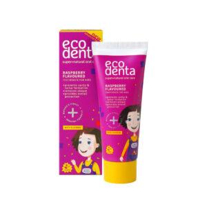 Pasta de dinti pentru copii impotriva cariilor cu aroma de zmeura, Eco...