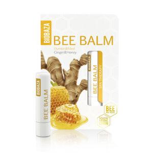 Balsam de buze natural cu miere si ghimbir, Biobaza, 4,5 g