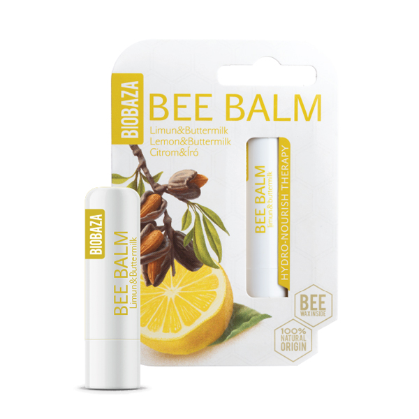 Balsam de buze natural cu lamaie si laptele batut, Biobaza, 4,5 g