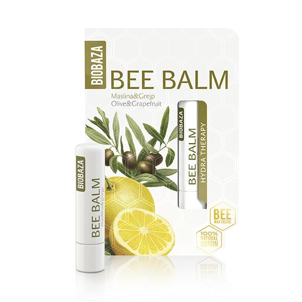 Balsam de buze natural cu ulei de masline si grapefruit, Biobaza, 4,5 g