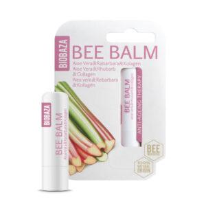 Balsam de buze natural anti aging cu aloe, rubarba si colagen, Biobaza...