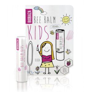 Balsam natural de buze pentru copii, cu zmeura, Biobaza,  4,5 g