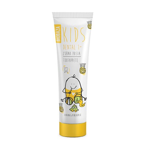 Pasta de dinti naturala fara fluor pentru copii 1+ cu aroma de ananas, Biobaza, 75 ml
