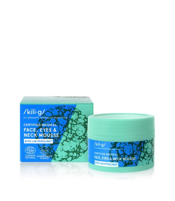 Crema spuma cu spirulina pentru fata, ochi si decolteu, Kilig Nature, 60 ml