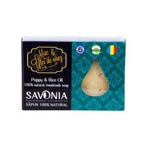 Sapun natural cu Mac si Ulei de Orez, Savonia, 90g