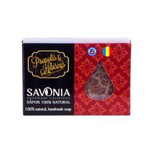 Sapun natural cu Propolis si Hibiscus, Savonia, 90g