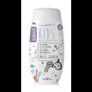 Sampon & gel de dus natural pentru copii Magic Garden, Biobaza, 2...
