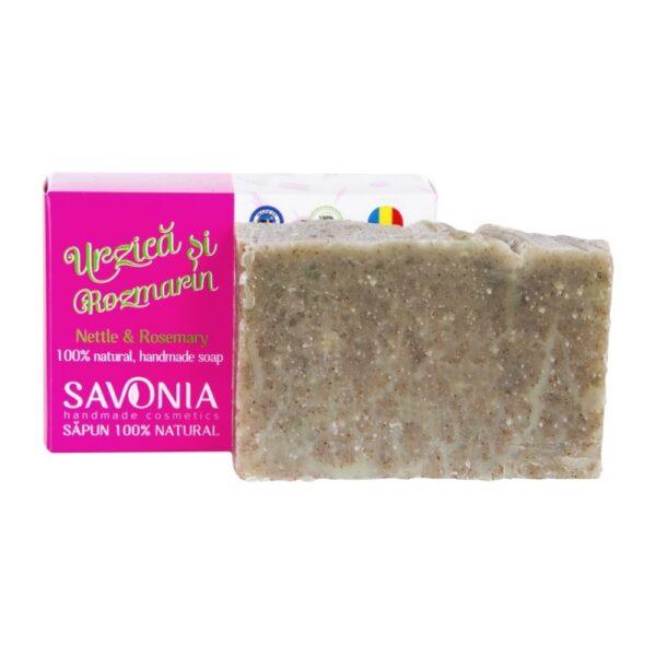 Sampon solid natural cu Urzica si Rozmarin, Savonia, 90g