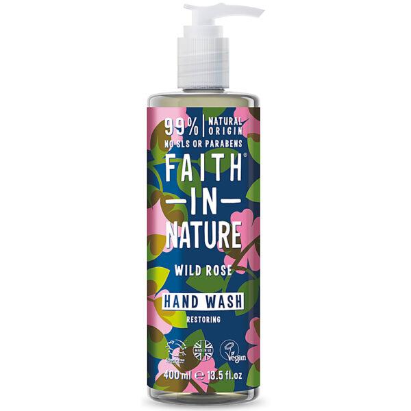 Sapun lichid natural cu trandafir salbatic, Faith in Nature, 400 ml