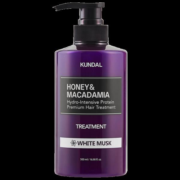 Tratament hipoalergenic pentru par, extra-hidratant cu proteine, White Musk, Kundal, 500 ml
