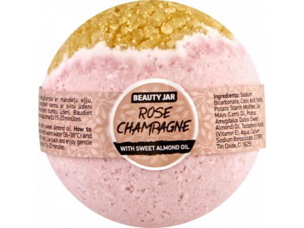 Bila de baie efervescenta cu sampanie, Rose Champagne, Beauty Jar, 150g