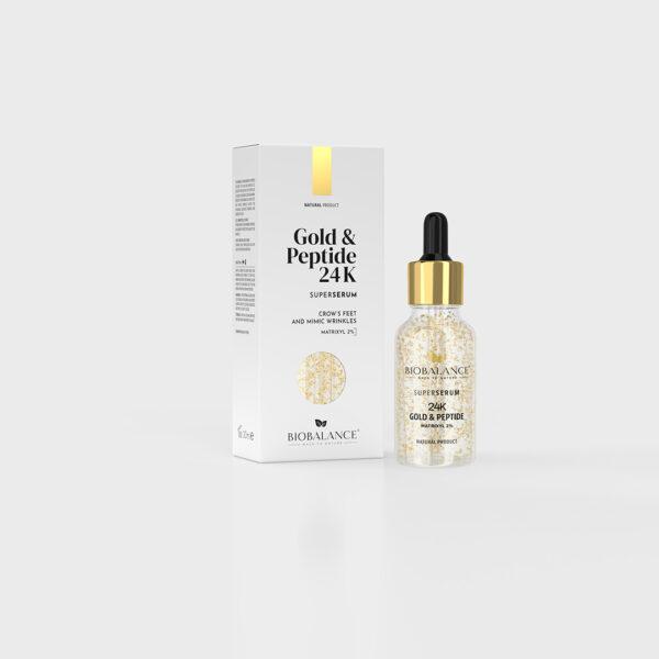 Super Serum cu Aur 24K si Peptide, Bio Balance, 30 ml