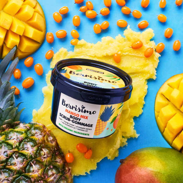 Scrub corporal cu zahar si unt de mango, Berrisimo, Beauty Jar, 280g